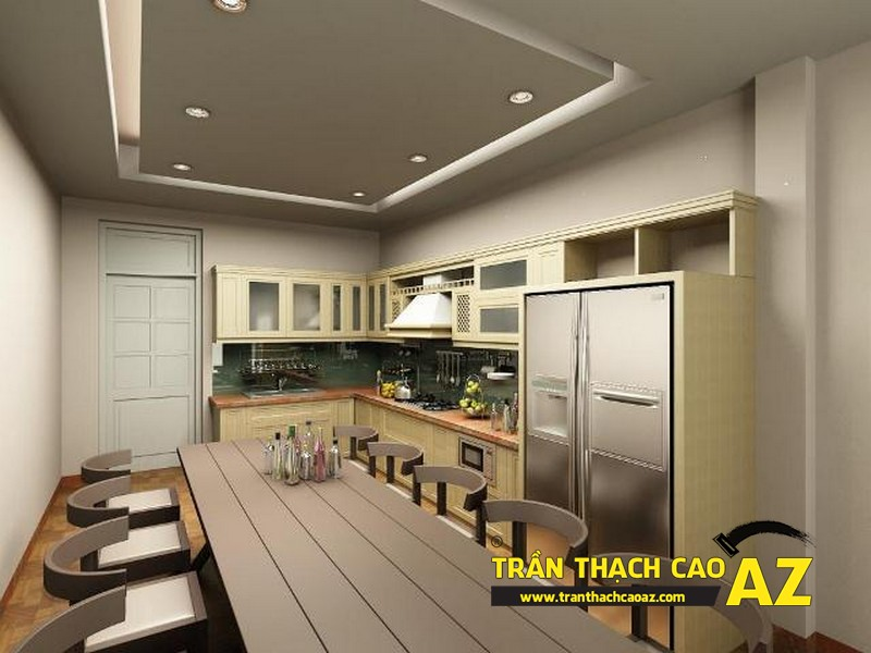 Mẫu trần thạch cao phòng bếp đẹp 2016