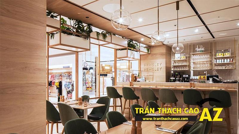 Mẫu thiết kế trần thạch cao quán cafe chất lạ, sang chảnh 04