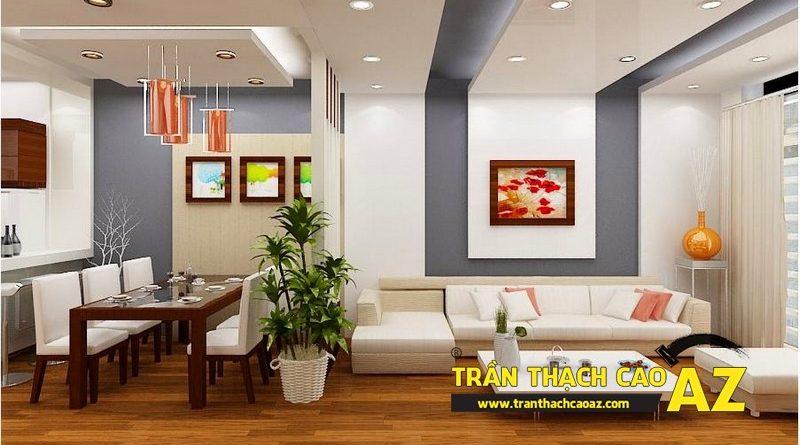 Trần thạch cao phòng khách cho nhà chung cư