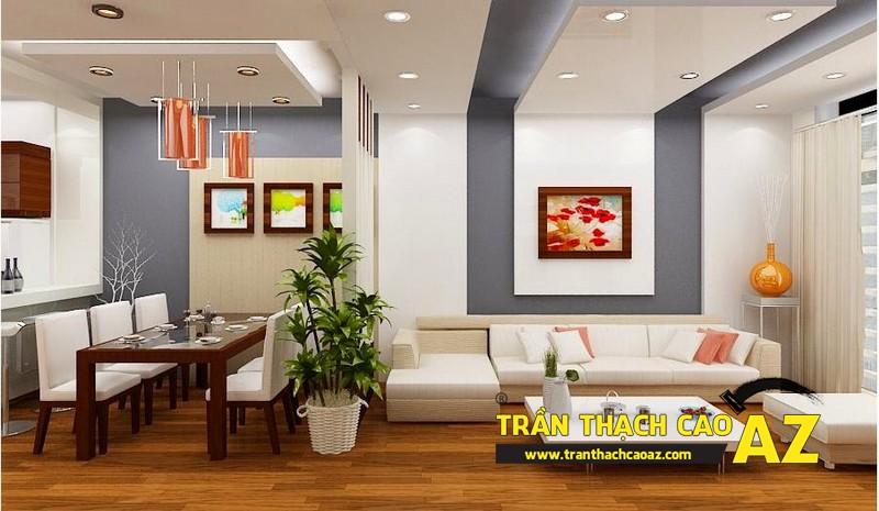 Nghệ thuật sử dụng vách thạch cao cho phòng khách