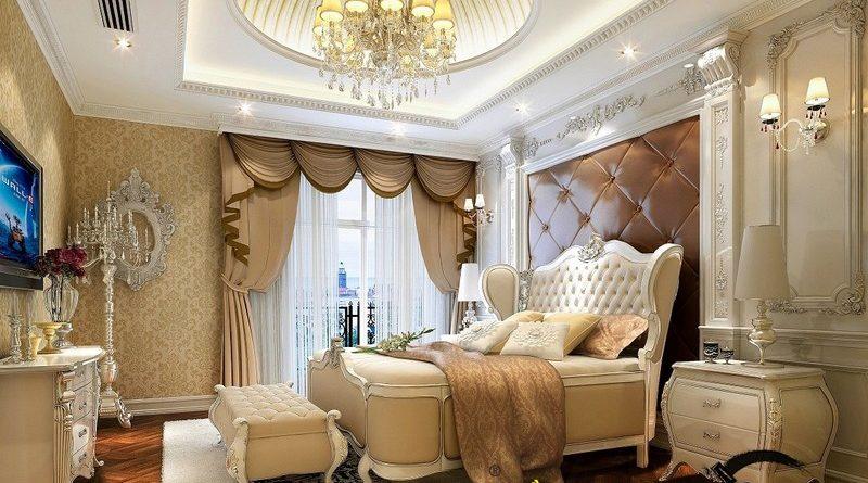 Nguyên tắc thiết kế trần thạch cao phòng ngủ theo phong cách cổ điển