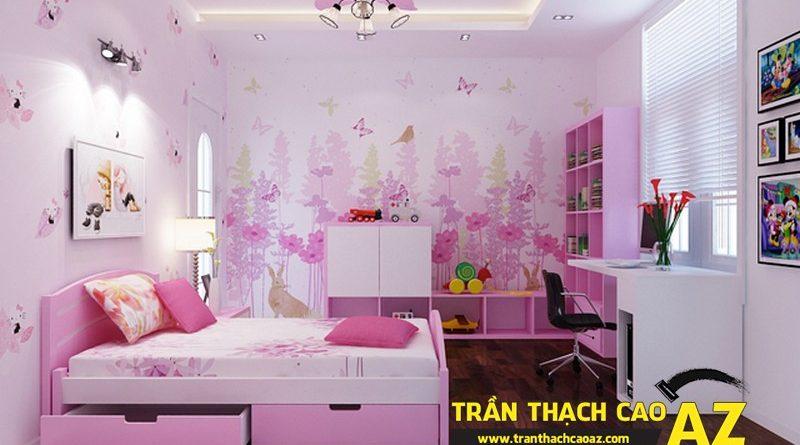 Những điều cần nhớ khi thiết kế trần thạch cao phòng trẻ em