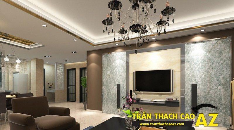 Cách chọn thiết kế trần thạch cao phòng khách phù hợp với không gian dưới 25m2