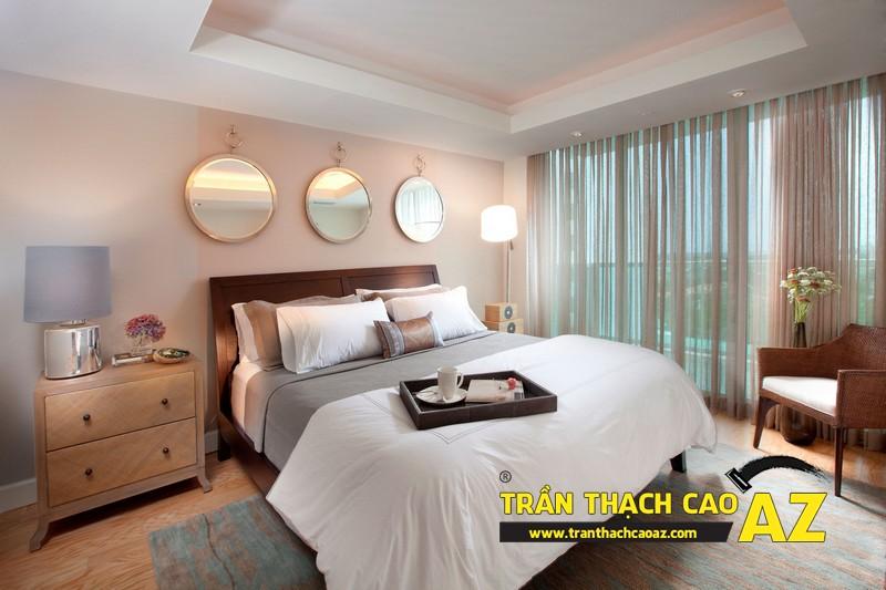 Tạo hình ngọt dịu và đầy nữ tính của thiết kế trần thạch cao phòng ngủ 02