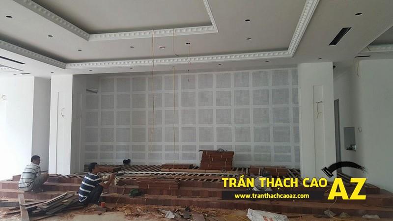 Thi công trần thạch cao khách sạn Phương Đông xã Cổ Loa, Đông Anh, Hà Nội01
