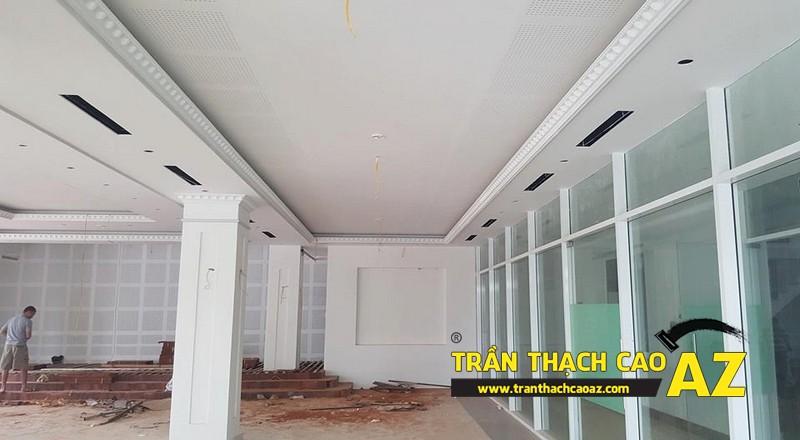 Thi công trần thạch cao khách sạn Phương Đông xã Cổ Loa, Đông Anh, Hà Nội02