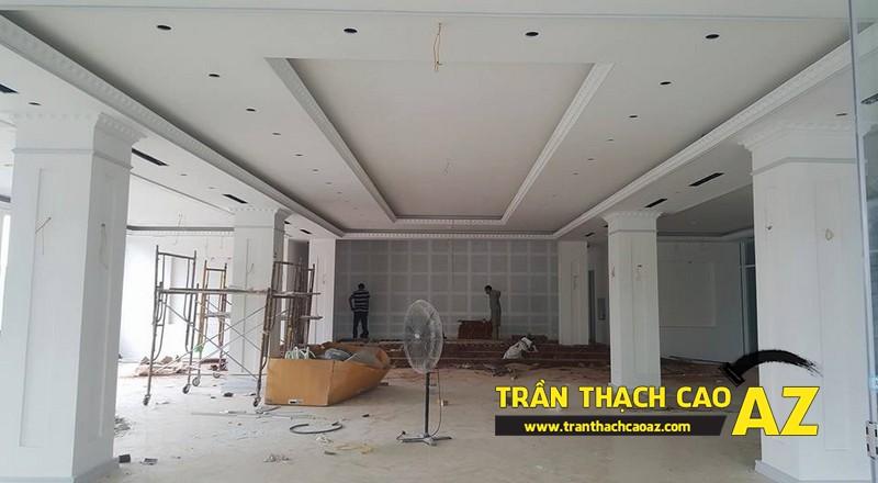 Thi công trần thạch cao khách sạn Phương Đông xã Cổ Loa, Đông Anh, Hà Nội03