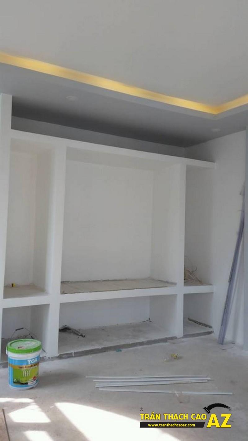 Thi công hoàn thiện trần vách thạch cao nhà anh Lâm 03