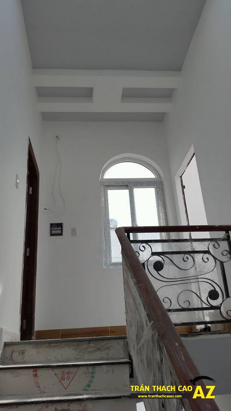 Thi công hoàn thiện trần vách thạch cao nhà anh Lâm 04