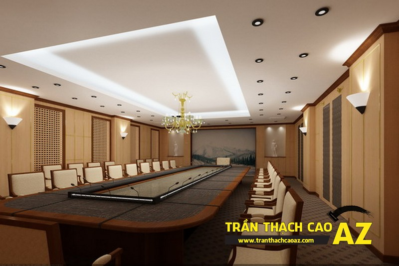 Thiết kế phòng họp sang trọng, hiện đại với trần thạch cao AZ