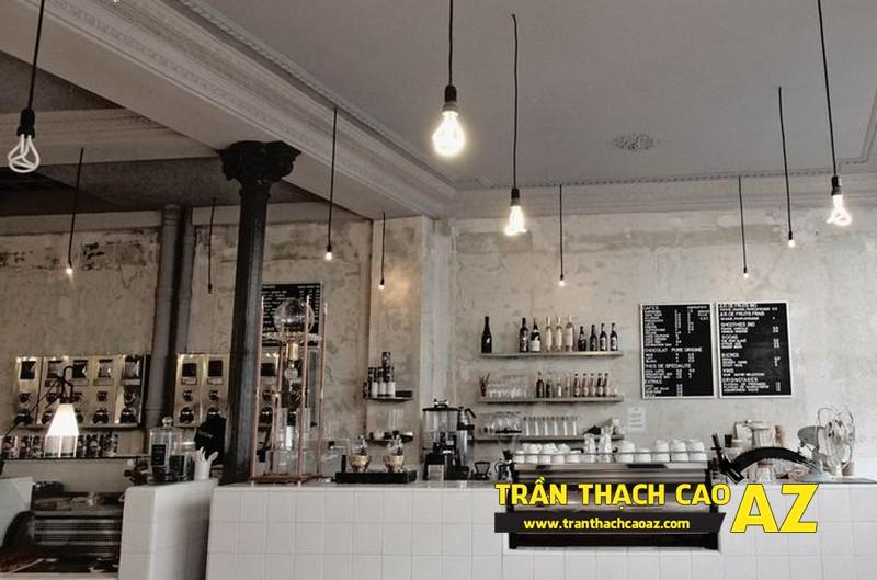 Mẫu thiết kế trần thạch cao quán cafe chất lạ, sang chảnh 03