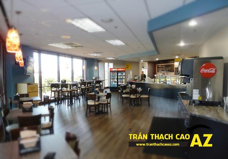 Mẫu thiết kế trần thạch cao quán cafe chất lạ, sang chảnh 06