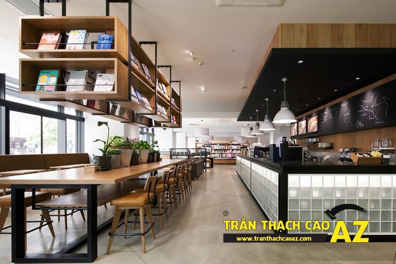 Mẫu thiết kế trần thạch cao quán cafe chất lạ, sang chảnh 08