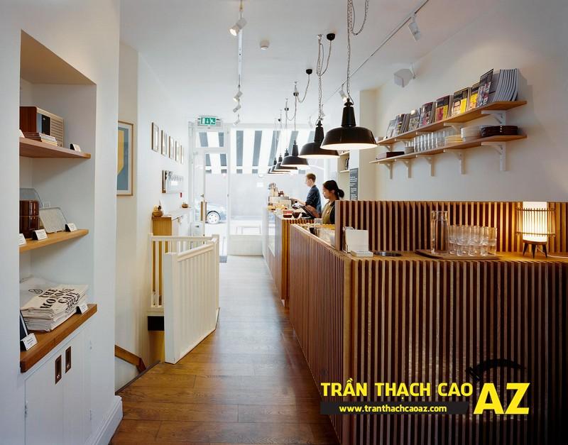 Mẫu thiết kế trần thạch cao quán cafe chất lạ, sang chảnh 07