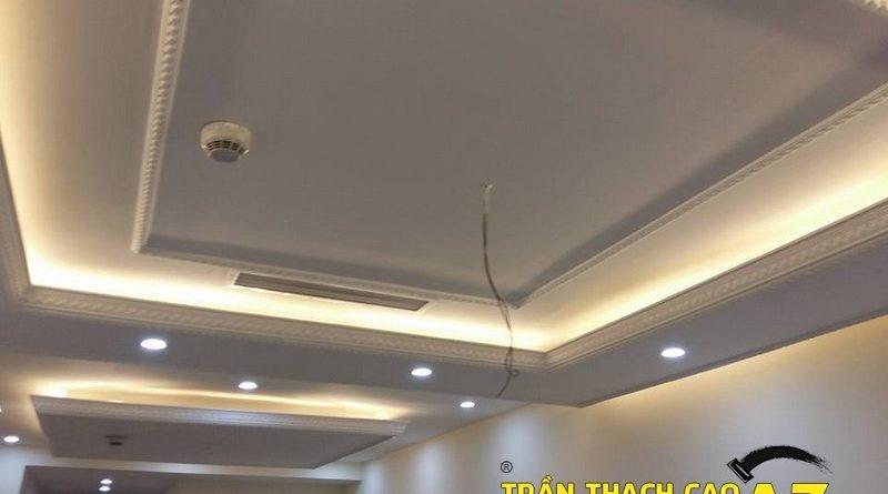 Hoàn thiện trần thạch cao phòng khách nhà anh Hoàn, chung cư Thăng Long Number one - 01
