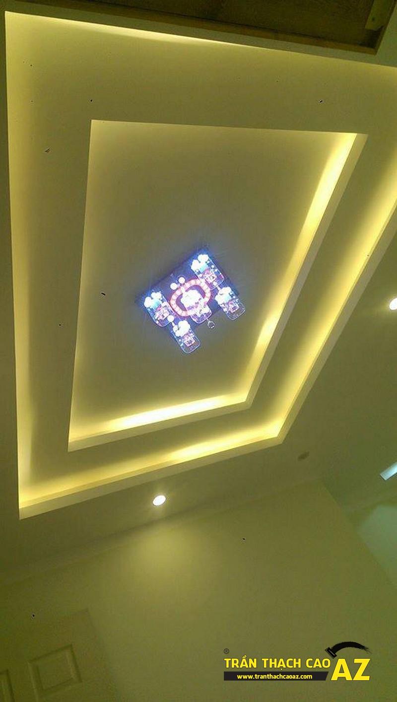 Ngắm thiết kế trần thạch cao cực bắt mắt nhà anh Lâm KĐT Mỗ Lao 05