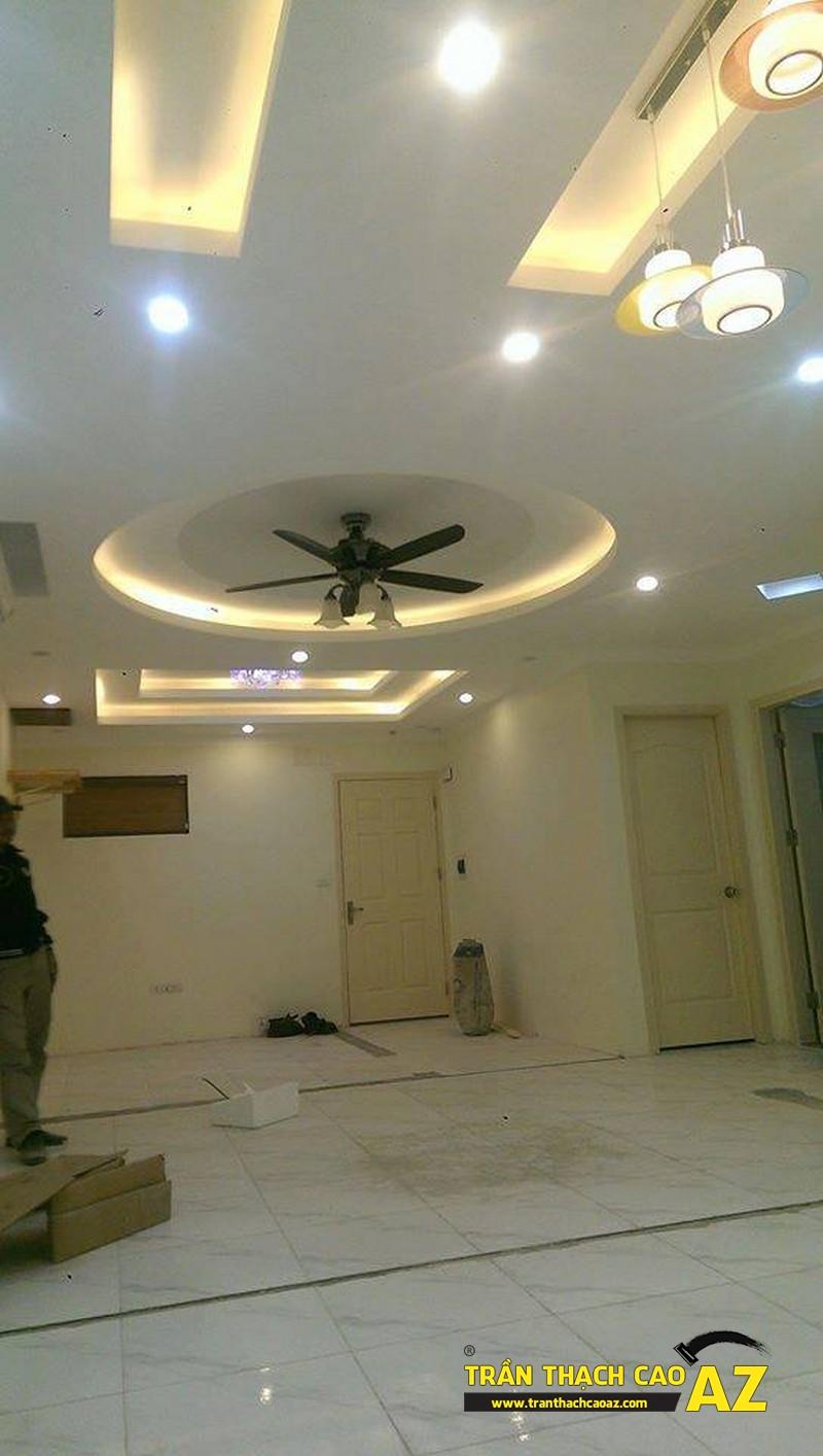 Ngắm thiết kế trần thạch cao cực bắt mắt nhà anh Lâm KĐT Mỗ Lao 06
