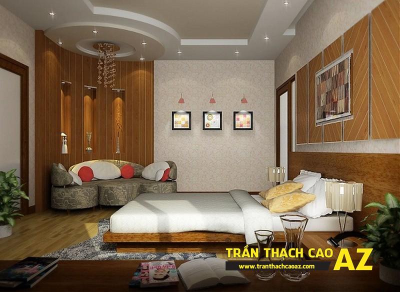 Mẫu trần thạch cao phòng ngủ theo phong cách Châu Âu - 01