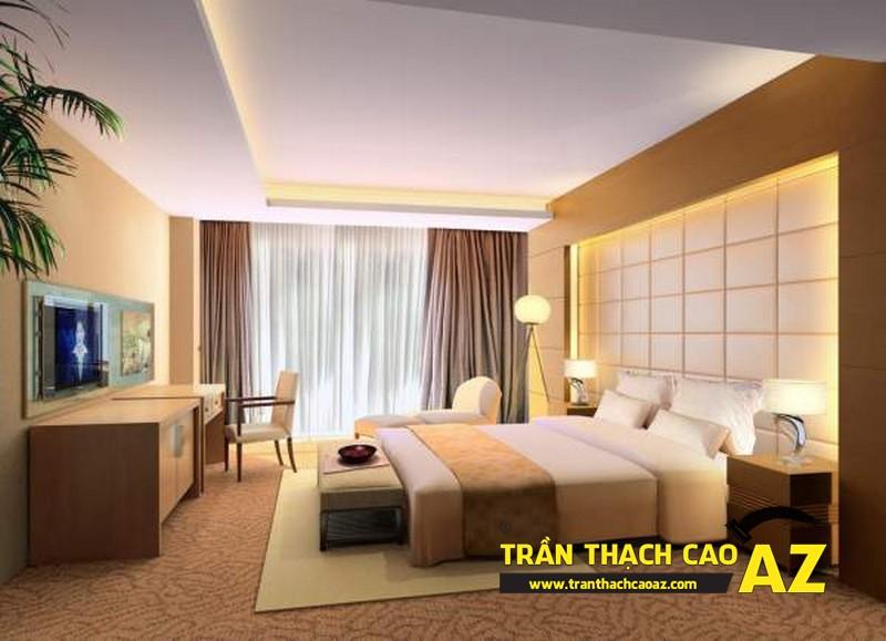 Mẫu trần thạch cao phòng ngủ theo phong cách Châu Âu - 04