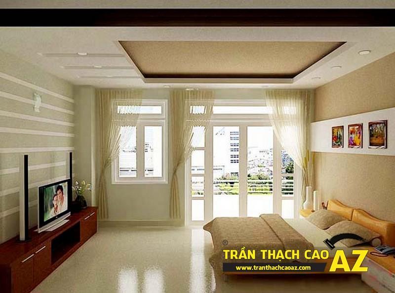 Mẫu trần thạch cao phòng ngủ theo phong cách Châu Âu - 06