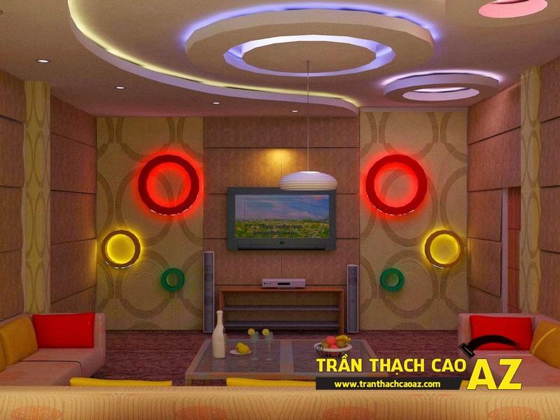 Mẫu thiết kế trần thạch cao phòng karaoke ấn tượng, cá tính - 04