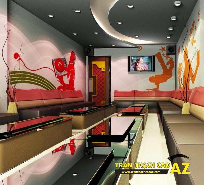 Thiết kế trần thạch cao Karaoke chuyên nghiệp, ấn tượng - 01