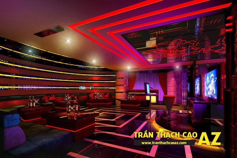 Trần thạch cao phòng karaoke đẹp, cá tính - 01