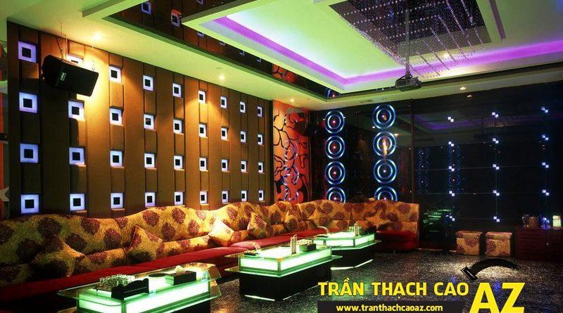 Trần thạch cao phòng karaoke đẹp, cá tính - 02