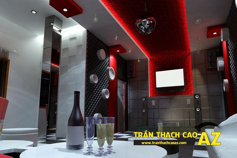 Trần thạch cao phòng karaoke đẹp, cá tính - 03