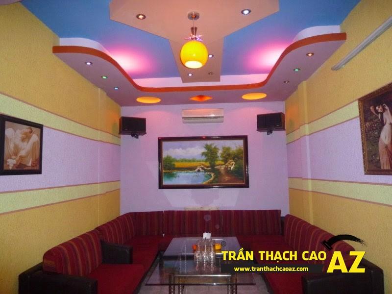 Mẫu thiết kế trần thạch cao phòng karaoke ấn tượng, cá tính - 02