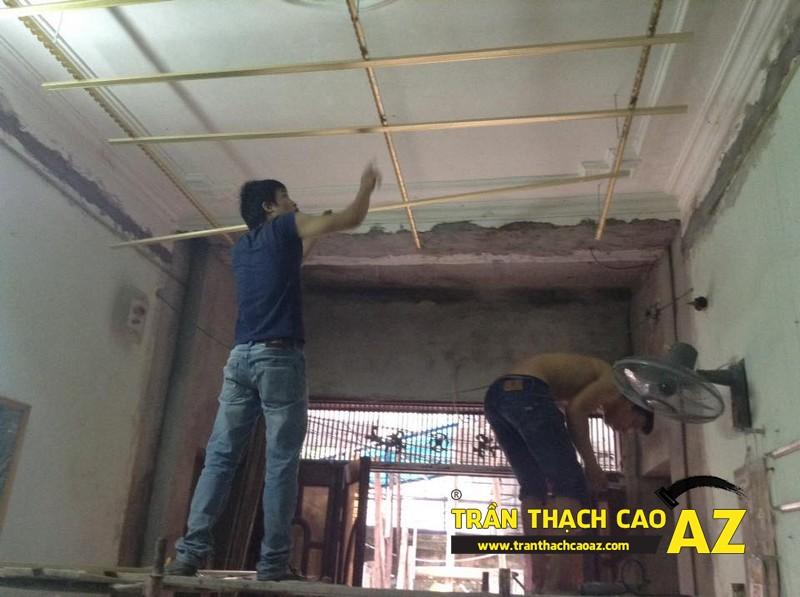 Thi công trần thạch cao nhà anh Hải - 01