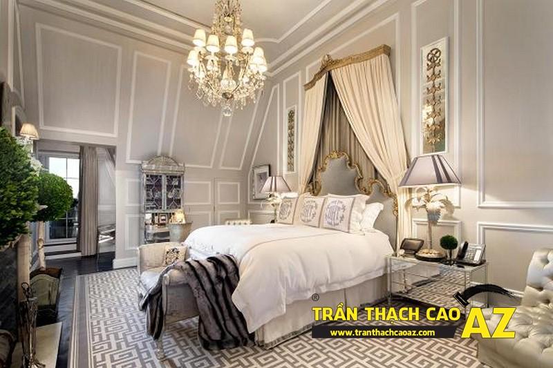 Mẫu trần thạch cao phòng ngủ theo phong cách Châu Âu - 15