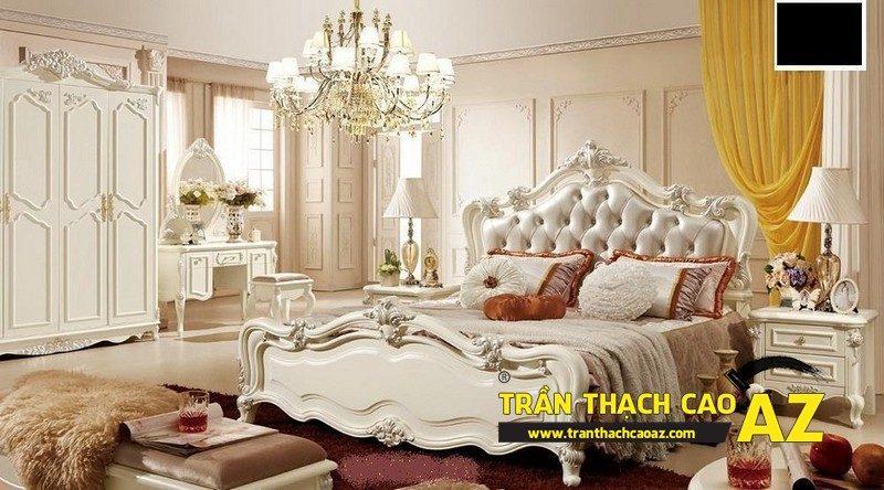 Mẫu trần thạch cao phòng ngủ theo phong cách Châu Âu
