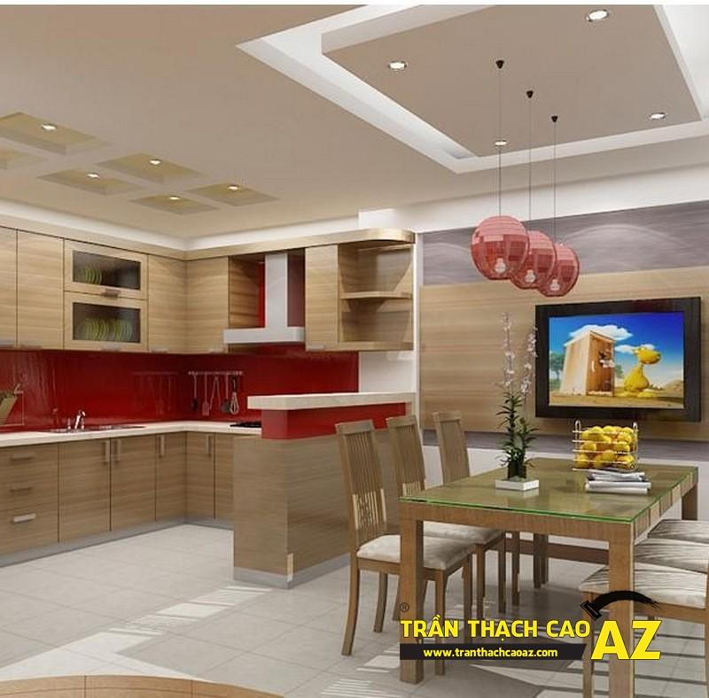 Làm trần thạch cao đẹp cho không gian phòng bếp - 01