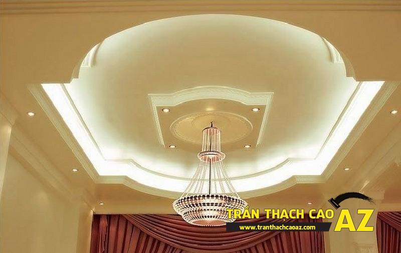"""Mẫu trần thạch cao phòng khách """"hot"""" nhất dịp cuối năm - 01"""