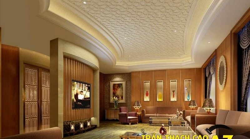 Xu hướng thiết kế trần thạch cao phòng khách 2017 - 02