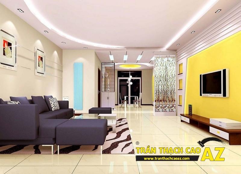 Tăng công năng sử dụng với trần thạch cao phòng khách - 01
