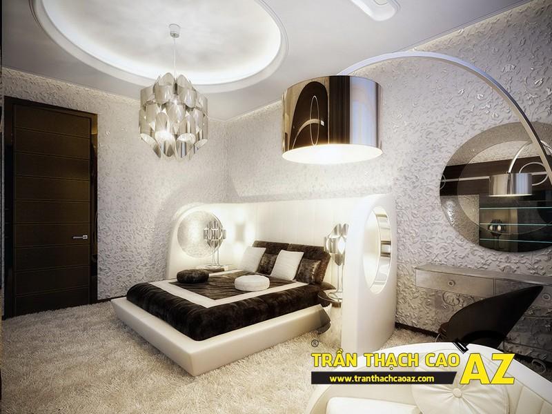 Mẫu trần thạch cao phòng ngủ theo phong cách Châu Âu - 12