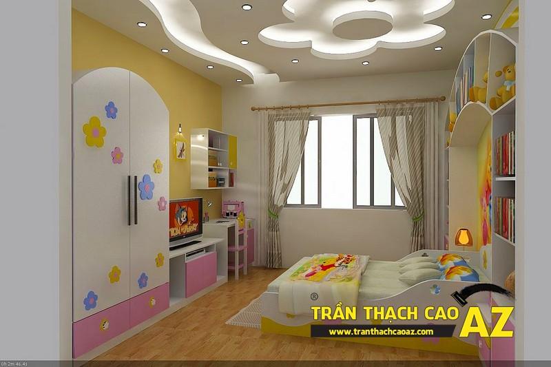 Trần thạch cao phòng ngủ cho trẻ em giúp bé bồi đắp ước mơ