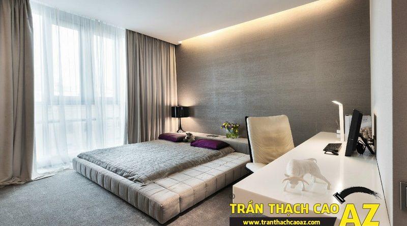 Trần thạch cao phòng ngủ và nguyên tắc tạo hiệu ứng ánh sáng