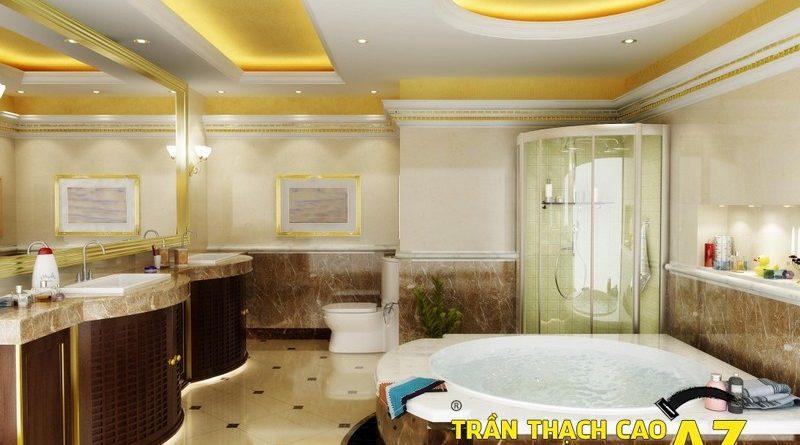 Trần thạch cao phòng tắm đẹp và hiện đại