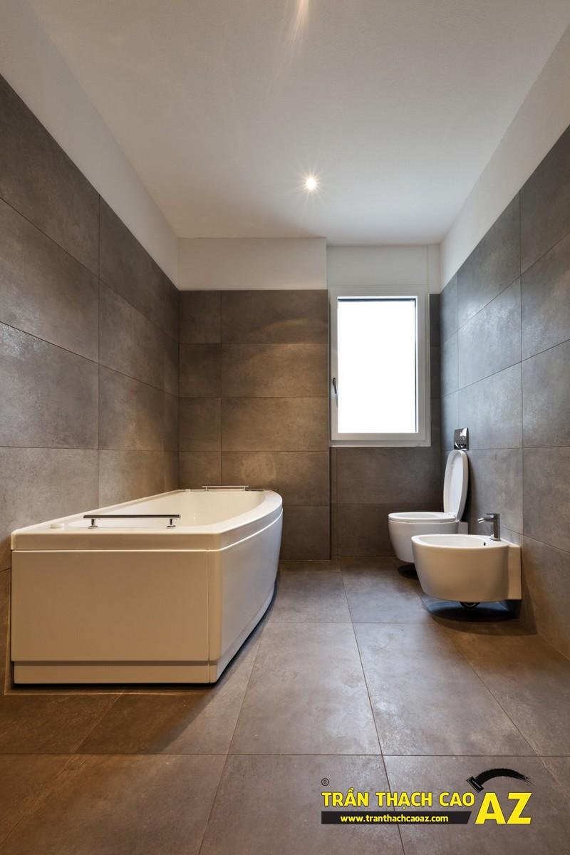 Tạo đẳng cấp với trần thạch cao phòng tắm