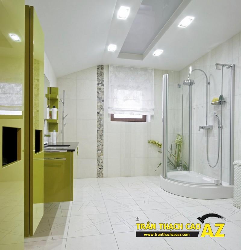 Trần thạch cao phòng tắm trọn gói, giá rẻ