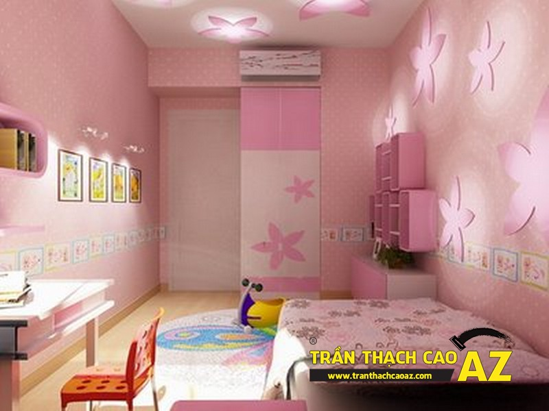 Trang trí trần thạch cao phòng trẻ em đẹp mê ly - 02