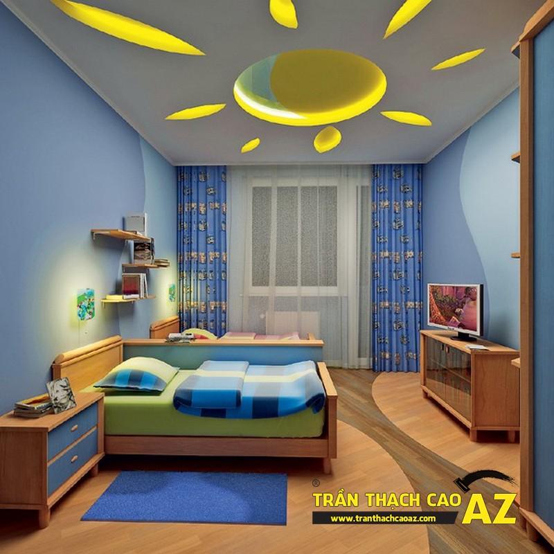 Làm trần thạch cao phòng trẻ em đẹp, chất lượng