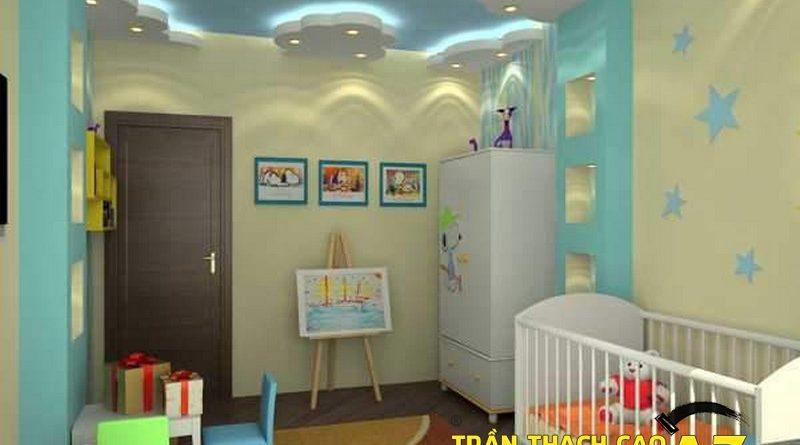 Tạo không gian ấn tượng, cuốn hút với trần thạch cao phòng trẻ em