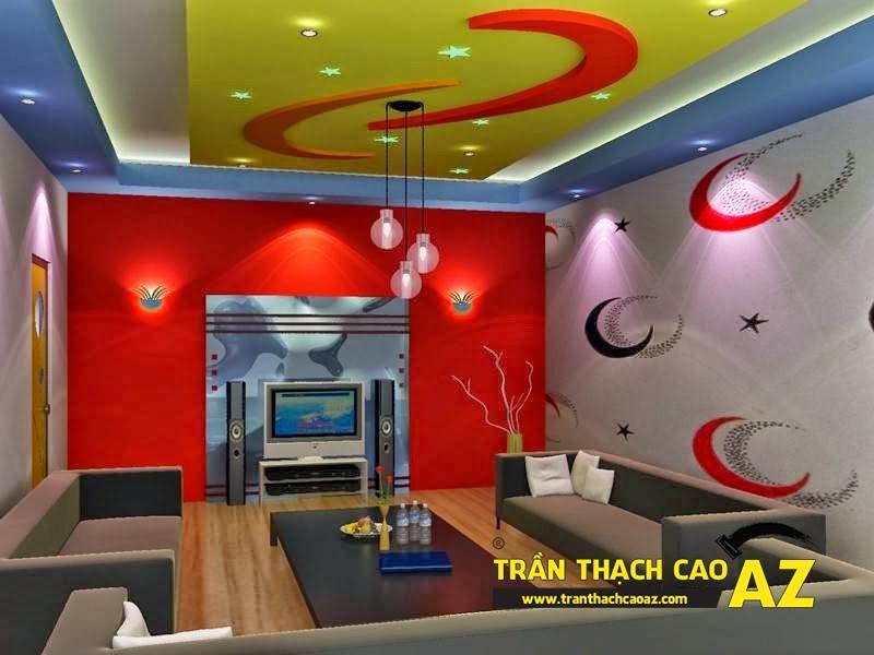 Trần thạch cao và những đột phá trong thiết kế cho phòng karaoke 2016