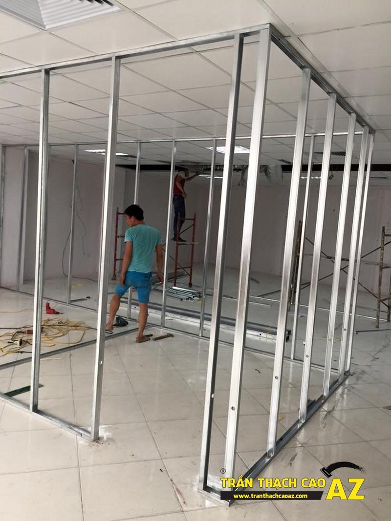 Thi công trần thạch cao, vách thạch cao văn phòng chuyên nghiệp tại ngõ 91, Trần Duy Hưng