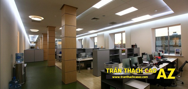 Trần thạch cao văn phòng hợp phong thủy