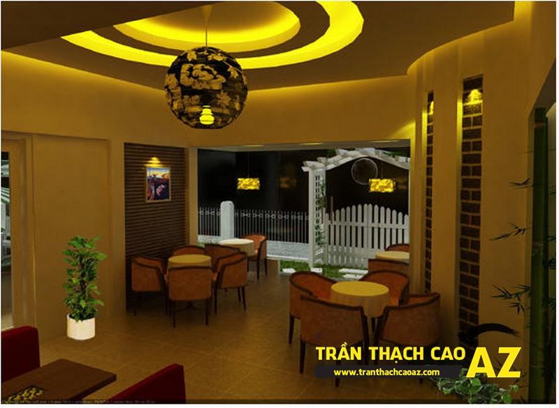 Trần thạch cao quán cafe trọn gói, giá rẻ
